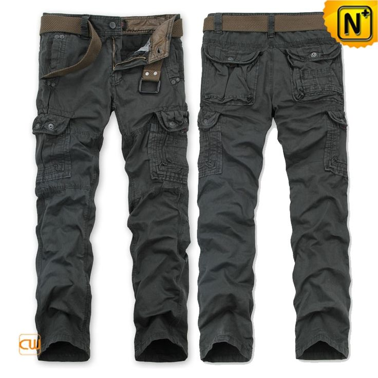 Mens Cotton Cargo Long Pants CW140437  Casual loose fit mens pure cotton cargo long pants with belt online, for work or for travel, our cargo pants for men offers comfortable wearing experience for you. Available in 4 colors!