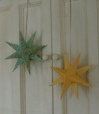I think all 3 kids would love making these stars!!  Great way to use up extra scrapbook paper!