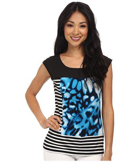 Calvin Klein Calvin Klein  SL Extended Shoulder Print Tee Butterfly Womens Sleeveless for 44.99 at Im in!