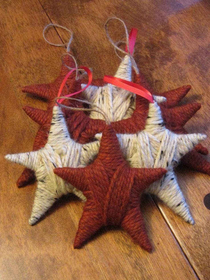 Rustic Star Ornament di CourtneysCraftings su Etsy