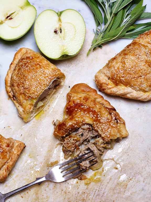 Pulled Pork, apple and sage pastie