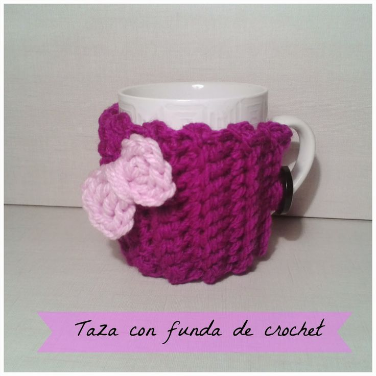 cosicasraquel: Funda para taza a crochet