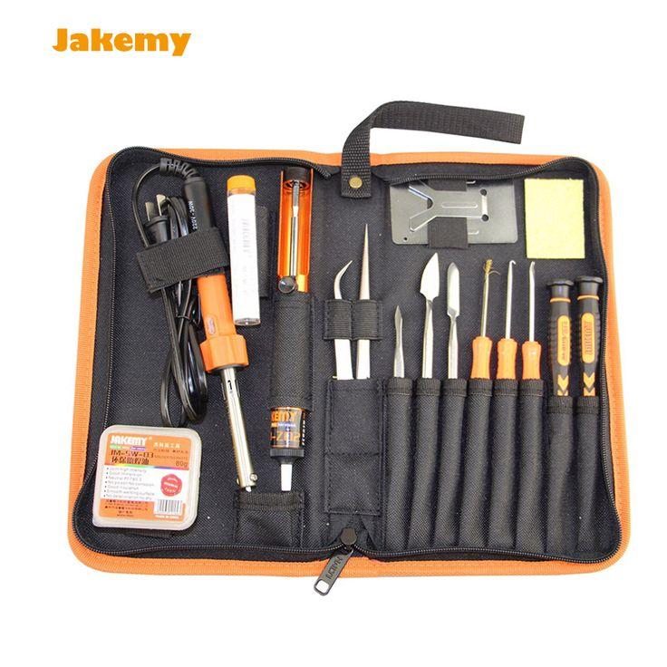Electric DIY Welding Soldering Iron Tool Set 17 in 1 JM-P04 Professional Fluxing kit + screwdriver set + tweezers + pry tools #Affiliate