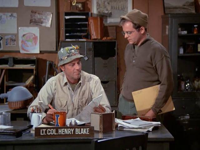 M*A*S*H: Season 1, Episode 18 Dear Dad, Again (4 Feb. 1973)  McLean Stevenson , Lt. Colonel Henry Blake,  Gary Burghoff , Corporal Walter Eugene Radar O'Reilly, mash,