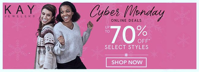 Online Cyber Monday Deals Up To 70 Off Select Styles Store Kayjewelers Scope Entire Store Ends On 12 07 Local Coupons Kay Jewelers Online Coupons