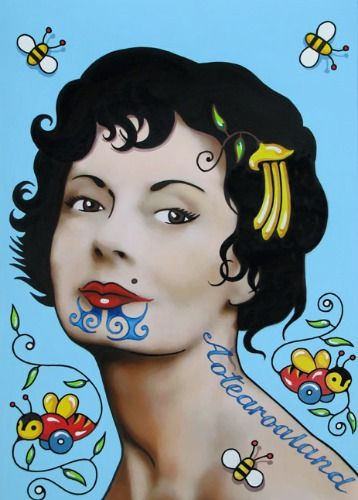 Miss Kiwiana by Lester Hall for Sale - New Zealand Art Prints