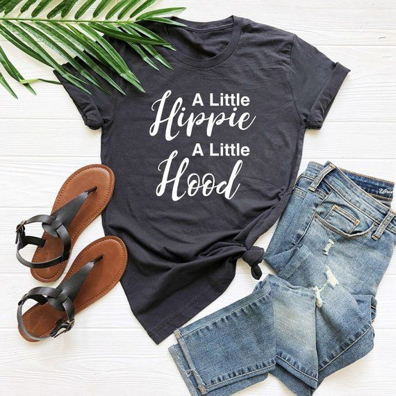 A Little Hippie A Little Hood Tees Holiday Gifts Vacation Tshirt