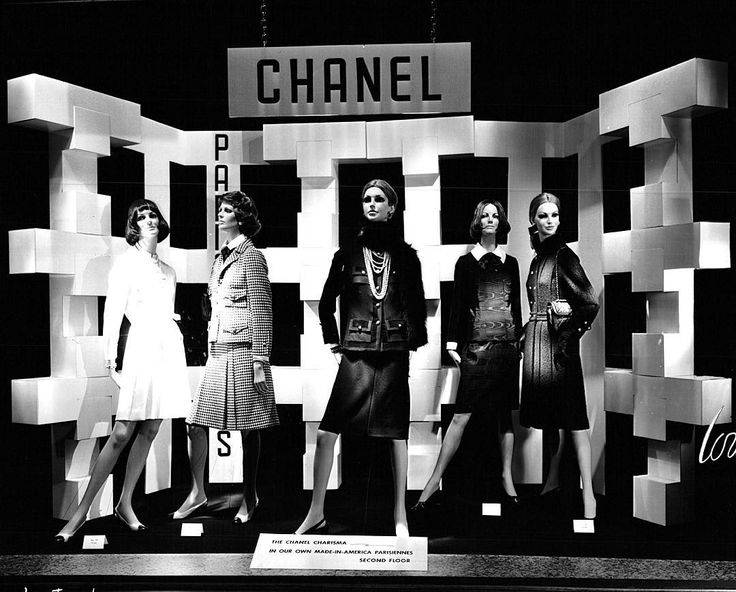"""LORD&TAYLOR,New York, (1972), presents: Chanel, """"Enjoy yourself. These are the good old days you're going to miss in the years ahead"""", pinned by Ton van der Veer"""