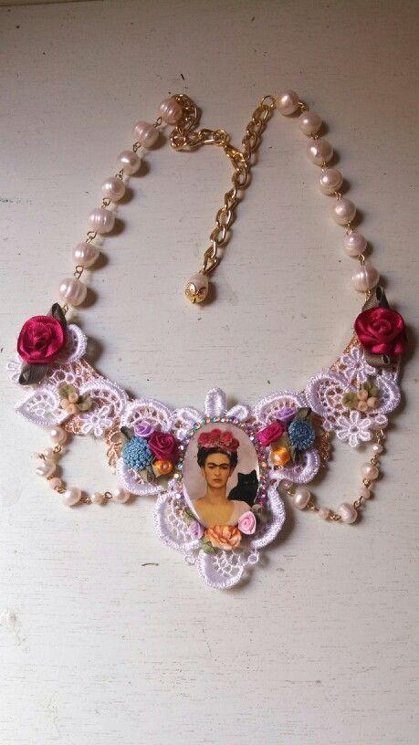 Collar  Frida kahlo 333 508 58 55 #diseñado por deseos divinos Guadalajara