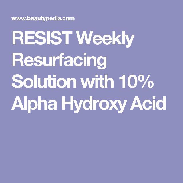 RESIST Weekly Resurfacing Solution with 10% Alpha Hydroxy Acid