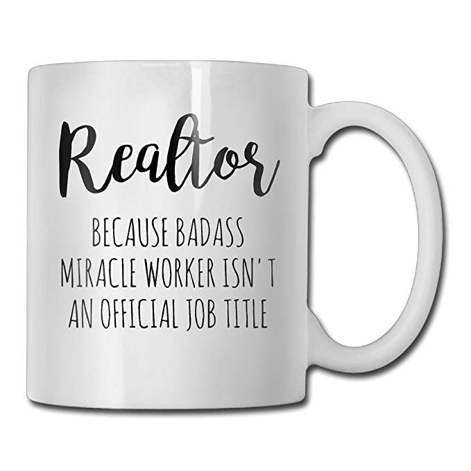 75300abe929 ChillThreads Realtor Coffee Mug, Closers Best Funny Gift for Real Estate  Agent Tea Cup, New Motivational and Inspirational for Men Women Office  Employee ...