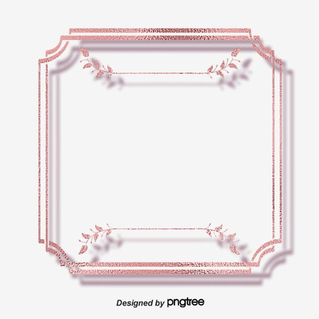 Creative Rose Gold Border Geometric Creative Border Cartoon Png Transparent Clipart Image And Psd File For Free Download Clip Art Rose Clipart Rose Frame