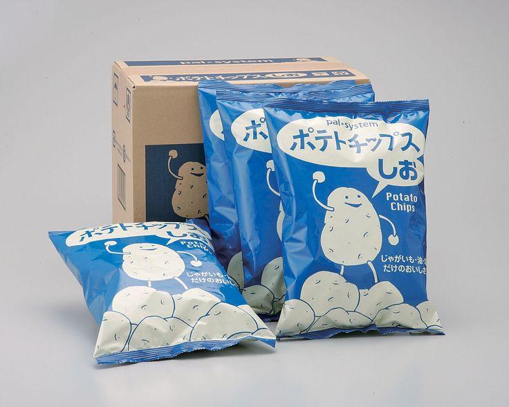 """Potato Chips / ポテトチップスしお - パルシステム東京  I want some """"happy"""" potatoes too!"""