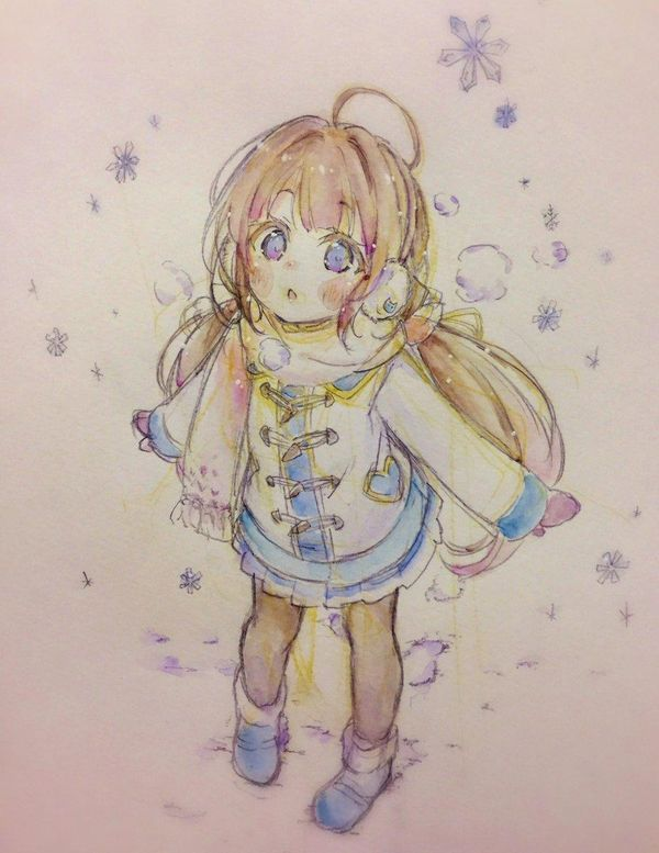 Fille Neige Dessin If 224 Crayondecouleur Manga