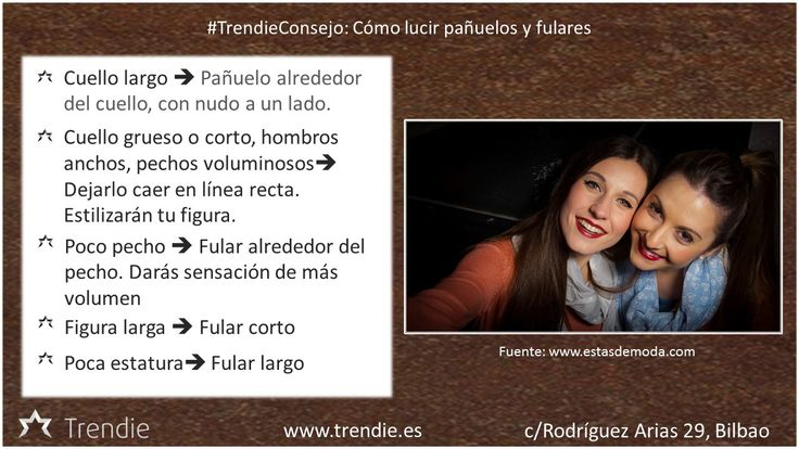 Consejos sobre cómo lucir pañuelos y fulares.  #TrendieConsejo