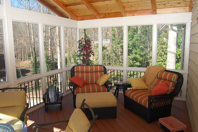 Three season room interior designs porches 3 for Screen room designs