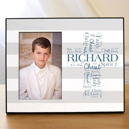 Personalized First Communion Frame  Custom Communion Gift