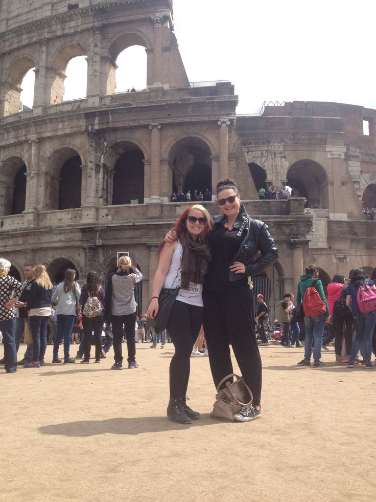 With my #bestfriend in front of the #colosseum !