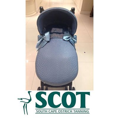 Another gorgeous #ostrichleather baby stroller – absolutely cute! #ostrich #babystroller