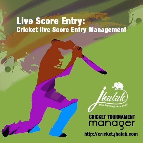 Cricket Scorer Match results Entry page – displays the match list as per calendar - Recent First It will give you the power to update and post your live tournament results quickly and easily. Score Entry – First Form: Toss Winner, Toss Decisions, Home/Away Teams and Players appear automatically – Players according to Team Manager's Finalized Player list Cricket Scoring Software with Cricket Full Score Downloader form user interface called Online Cricket Scorer Match Result – Two innings and