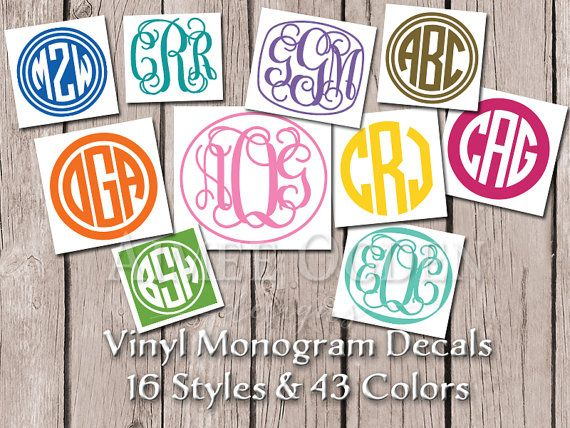 Best Decals Images On Pinterest Vinyl Decals Vinyl - Monogrammed custom vinyl decals for car