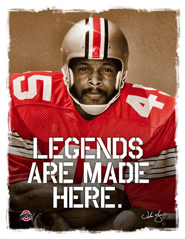 Ohio State Football recruiting flier redesign.