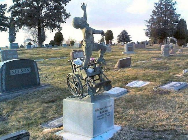 Tombstone That Dad Designed For Son Who Had Disabilities Captures Boy's Tenacious Spirit