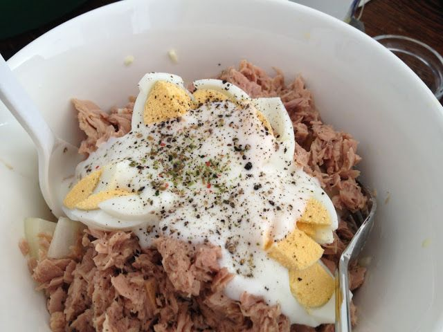 a Girl can Cook, Attack Phase, Diet, Dukan Diet, Dukan Diet Recipe, FoodPorn, Lose Weight or Die Trying, Recipe, tuna, egg, tuna salad, egg salad, tuna egg salad, vegetable salad, diet salad