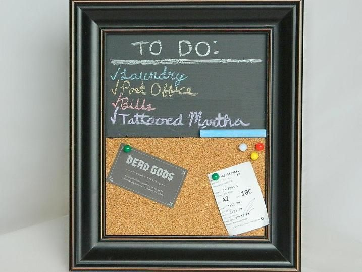 DIY Pinboard : DIY Cork and Chalkboard Picture Frame