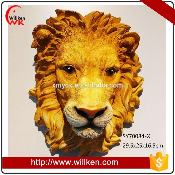 African Sculptures/Resin Head Arts/Lion Head Statue