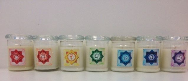 1. Chakra Candles  Collection Soy Set