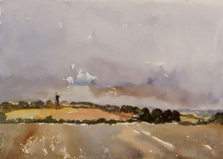 Buy Storm over East Kent at Sarre - An original 'plein air' watercolour on paper!, Watercolour by Julian Lovegrove Art on Artfinder. Discover thousands of other original paintings, prints, sculptures and photography from independent artists.