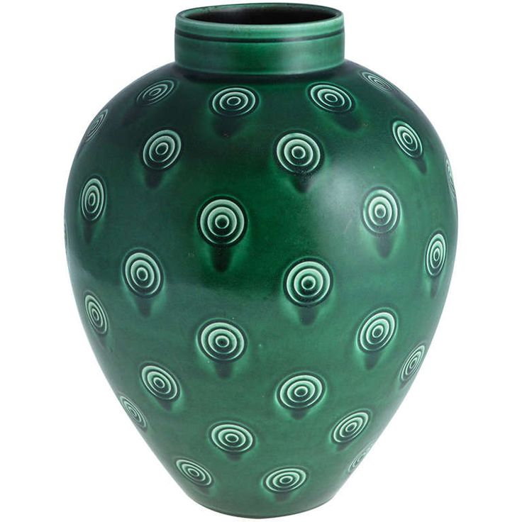 Very Large Niels Thorsson Vase for Aluminia | 1stdibs.com