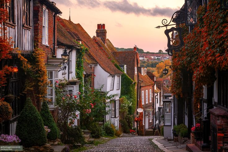 Cobbled Street, Mermaid Street, Rye, East Sussex, - Cobbled Street, Mermaid Street, Rye, East Sussex, England