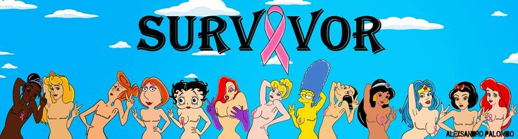 "Humor Chic: ART - Iconic female cartoon characters ""SURVIVOR"" by aleXsandro Palombo"