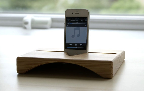 Sounder the wooden ipad stand / ipad dock and natural by finkh, $69.00