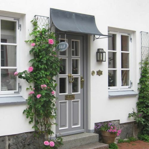 Front door canopies made from zinc galvanized steel. Any porch canopy made to fit over your door by Garden Requisites. & 54 best Metal Door Canopies images on Pinterest | Canopies ...