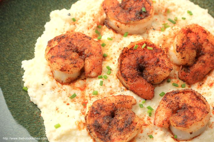 Shrimp & Goat Cheese Grits