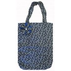 Navy Power Daisy Print Shopping Tote Bag Made by Miss Pretty London in Greater #London - £15.00