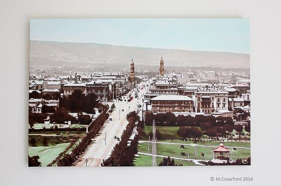 Canvas Print  View of Adelaide looking down King by CVPublications, $165.00