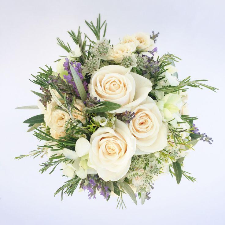 los ramos de novia con olivo lavanda