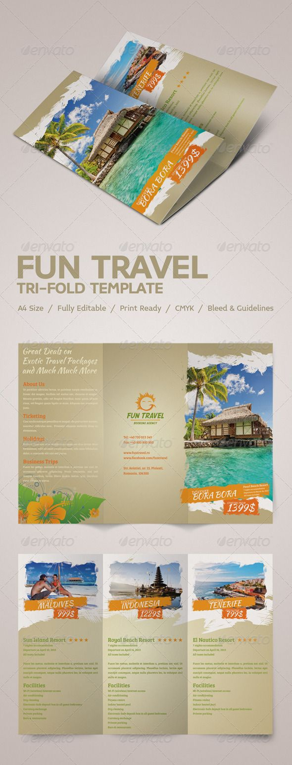 25 best ideas about travel brochure template on pinterest for Tourist brochure template