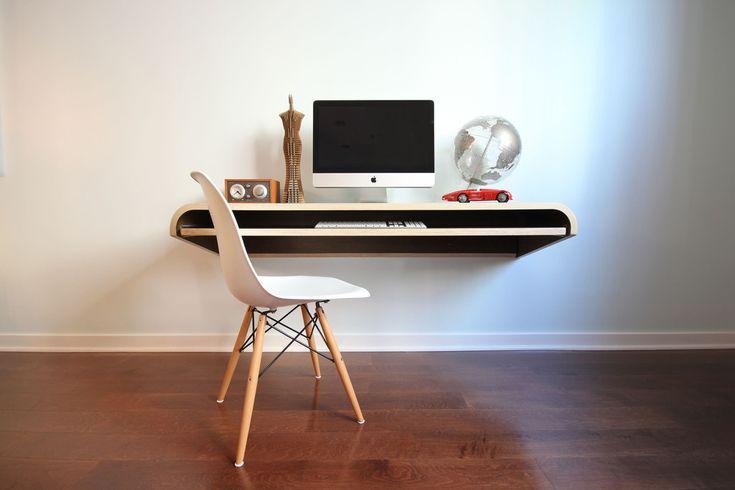Minimal Float Wall Desk - Walnut