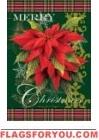 Christmas Poinsettias House Flag