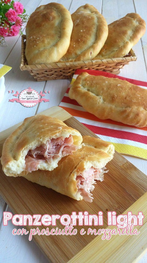 Panzerottini light con prosciutto e mozzarella
