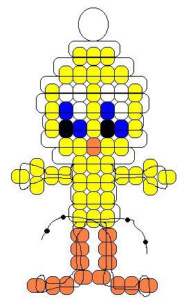 Tweety Bird pony beads pattern