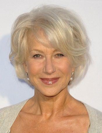 Classy Celebrity Hairstyles for Women with Gray Hair-Helen Mirren