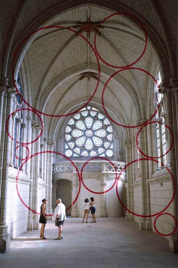 Felice VARINI / Installations anamorphose FRONT