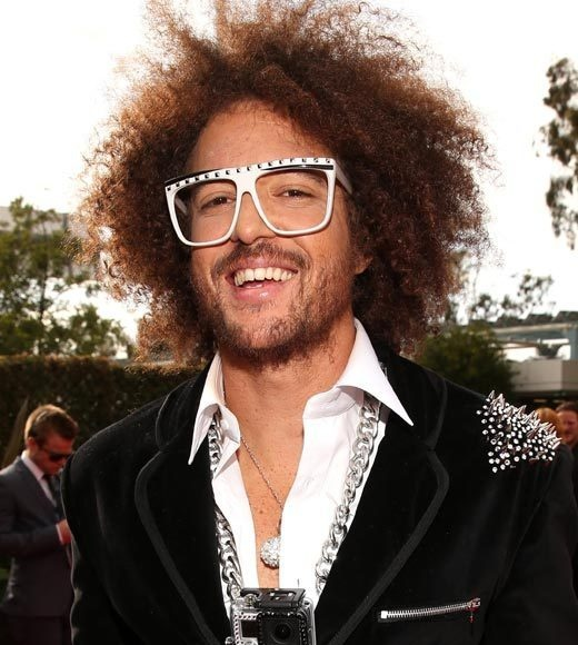 Redfoo #LMFAO #grammys #redcarpet. Danced on stage and got shot poured in my mouth during the song shots by this man right here on my 21st bday at turning stone casino