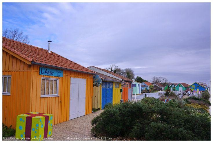 Cabanes colorées de l'île d'Oléron - Framboise à Pornic